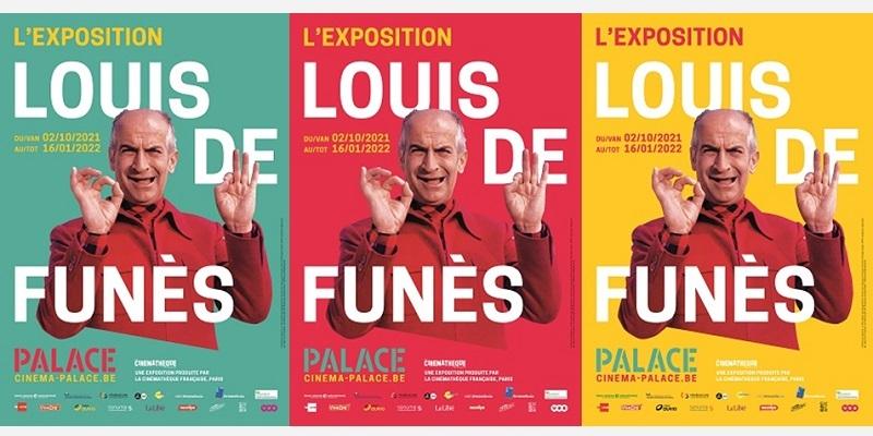 Affiche exposition Louis de Funès au cinéma Palace