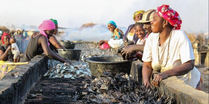Les femmes de l'halieutique à Joal-Fadiouth - © APEFE