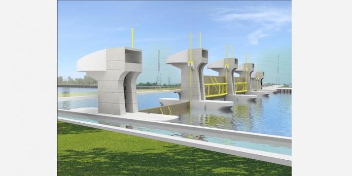 Vue 3D de la future Muong Chuoi Barrière à Ho Chi Minh  Ville