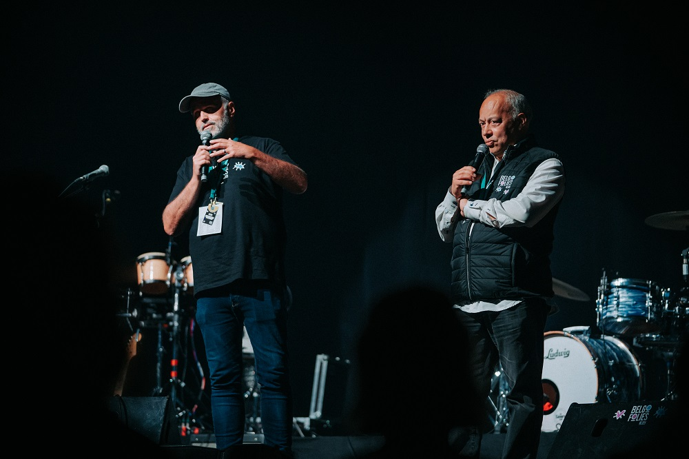 ©j.vanbelle - WBI Charles Gardier et Jean Stephens à l'ouverture des Belgofolies de Spa 2021