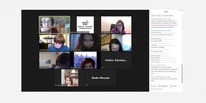 Atelier de poésie avec Anne Versailles pour les pays baltes