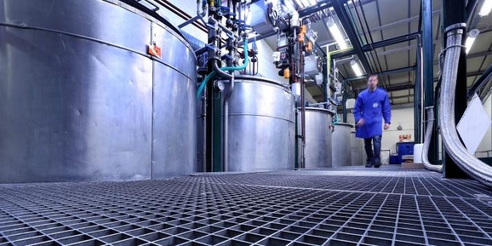 La salle de mélange pour la production des aérosols (c) Riem
