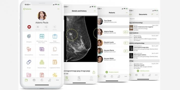 L'application d'Andaman7 propose une véritable interaction entre les patients et les acteurs de la santé (c) Andaman7