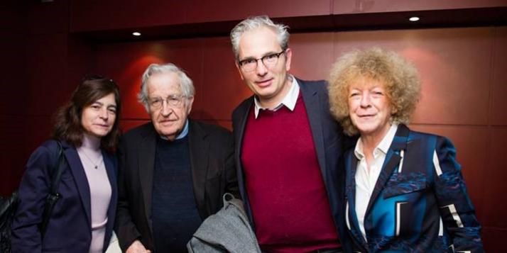 Noam Chomsky au Centre Wallonie-Bruxelles à Paris - Photo: © Vinciane Lebrun-Verguethen