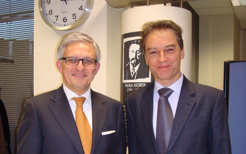 Artur HARAZIM, Ambassadeur de Pologne en Belgique, Frank PEZZA, Délégué Wallonie-Bruxelles à Varsovie