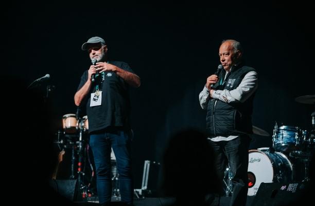 Charles Gardier et Jean Stephens à l'ouverture des Belgofolies de Spa 2021
