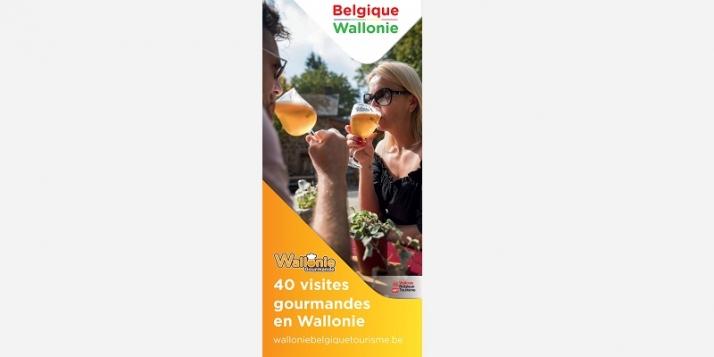 """Carte """"40 visites gourmandes en Wallonie"""""""