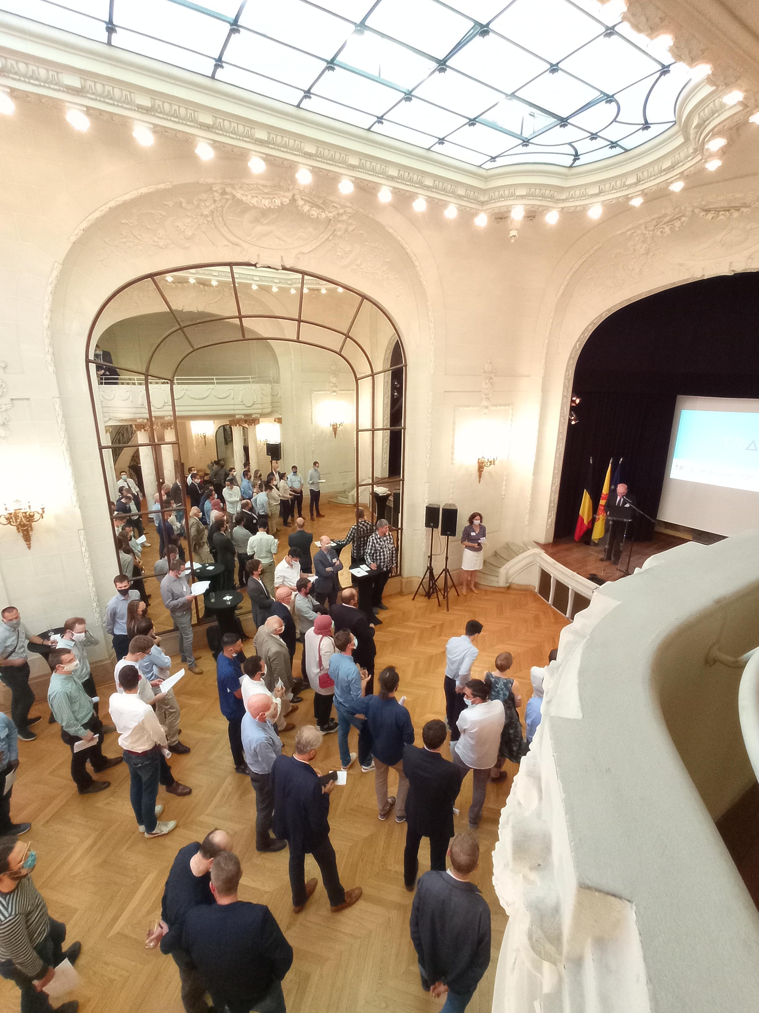 Le cocktail dînatoire organisé à la Délégation générale W-B à Paris