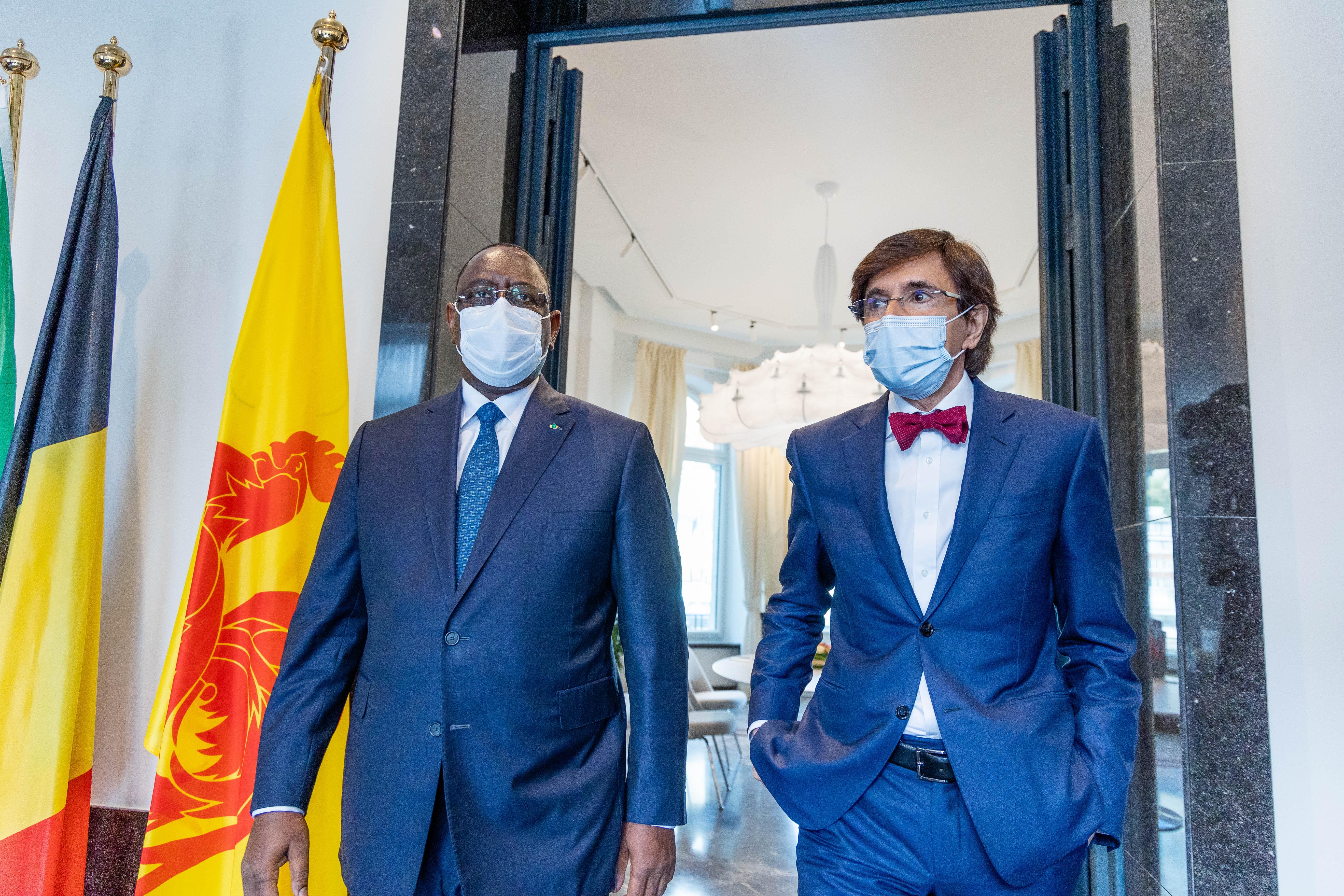 Son Excellence, Macky Sall, Président du Sénégal et le Ministre-Président du Gouvernement wallon, Elio Di Rupo