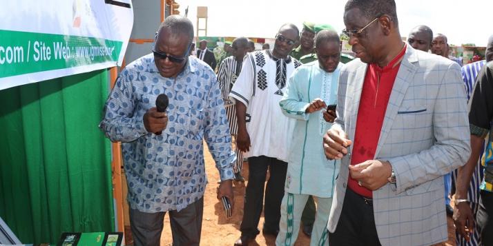 Visite du stand de l'IGMVSS par le Ministre de l'Environnement