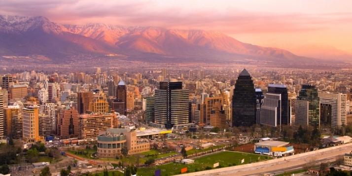 Vue de Santiago du Chili - cliquer pour agrandir