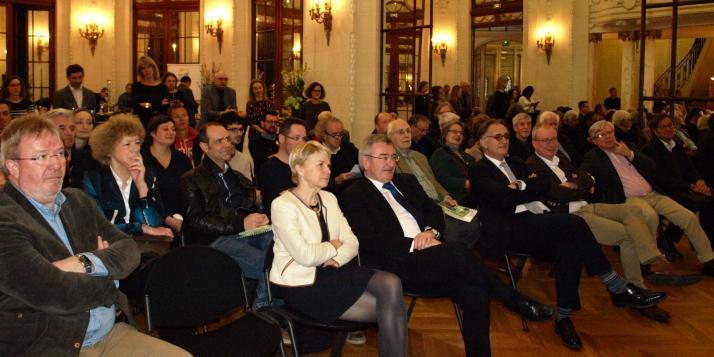 Fabienne Reuter, Déléguée générale Wallonie-Bruxelles à Paris, et René Collin, Ministre wallon en charge du tourisme - cliquer pour agrandir