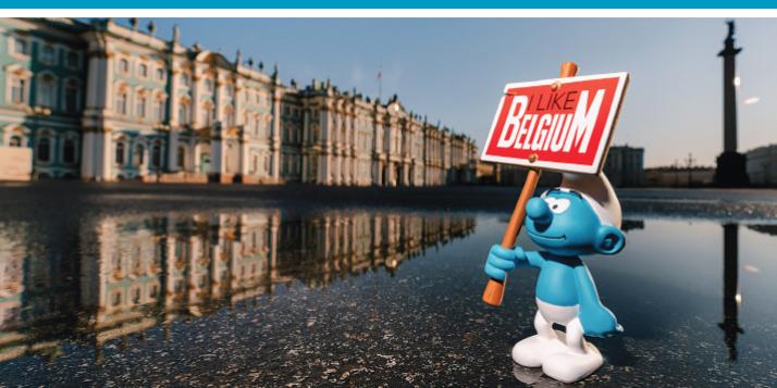 """Expo """"60ème anniversaire des Schtroumpfs"""" à Saint-Pétersbourg - cliquer pour agrandir"""