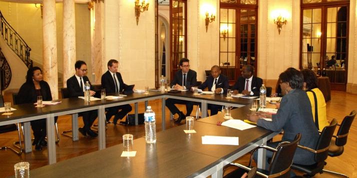 L'Organisation Internationale de la Francophonie à la Délégation générale Wallonie-Bruxelles à Paris - cliquer pour agrandir