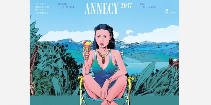 Affiche Festival International du Film d'Animation d'Annecy - cliquer pour agrandir