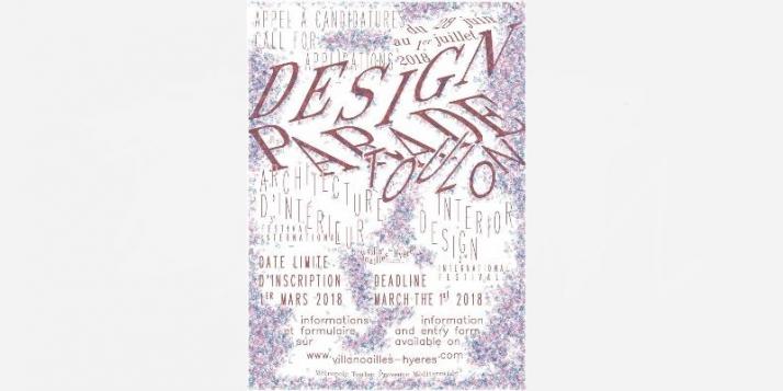 """Appel à candidatures pour la """"Design Parade Toulon 2018""""  - cliquer pour agrandir"""
