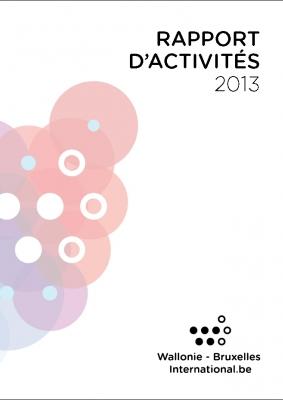 Couverture du Rapport d'activités 2013 de WBI - cliquer pour agrandir