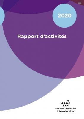 """Couverture """"Rapport d'Activités 2020 de WBI"""""""