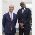 Rudy Demotte, Ministre-Président de la Fédération Wallonie-Bruxelles, et Jovenel Moïse, Président de la République d'Haïti  - cliquer pour agrandir