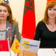 Mme Nadia EL HNOT, Directrice de la Coopération et de l'Action culturelles au Ministère des Affaires étrangères et de la Coopération du Royaume du Maroc, et Mme Pascale Delcomminette, Administratrice générale de WBI - cliquer pour agrandir