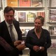 Chantal De Bleu (Awex), Olaf Bodem (Délégué Wallonie-Bruxelles), Emmanuelle Lambert (WBI) et Paul de Sinety (Commissaire général) - cliquer pour agrandir