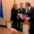 Pascale Delcomminette, Administratrice Générale de Wallonie-Bruxelles International, et Jakub Skiba, Secrétaire d'Etat du Ministère de l'Intérieur et de l'Administration de la République de Pologne - cliquer pour agrandir