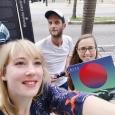 Elodie Meunier, ALAC au Brésil, en compagnie du duo RIVE lors des Fêtes de la Francophonie 2019 - cliquer pour agrandir