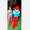 Avec Miss Monde Manushi Chillar, lors de la Fête du Roi à Mumbai - cliquer pour agrandir