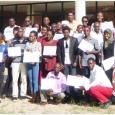 Les participants devant l'Ecole Nationale en Kinésithérapie et Réadaptation - cliquer pour agrandir