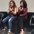 """Elodie Meunier avec la réalisatrice Alexe Poukine qui présentait son film """"Sans frapper"""" à la Mostra du Cinéma de Sao Paulo - cliquer pour agrandir"""