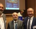 Le professeur Paul Aron (premier à gauche) lors de la conférence à l'Université Jagellonne