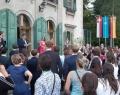 David Royaux, Délégué général Wallonie-Bruxelles à Genève, lors du discours d'ouverture de la soirée belge de réseautage, dans le cadre du Salon de la European Association for International Education (EAIE) qui s'est tenu à Genève