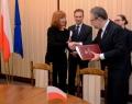 Pascale Delcomminette, Administratrice Générale de Wallonie-Bruxelles International, et Jakub Skiba, Secrétaire d'Etat du Ministère de l'Intérieur et de l'Administration de la République de Pologne