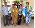 6 stagiaires de 3ème année au Centre de santé de MATERI au nord-ouest du Bénin, accompagnés de 3 enseignants de l'IFSIO
